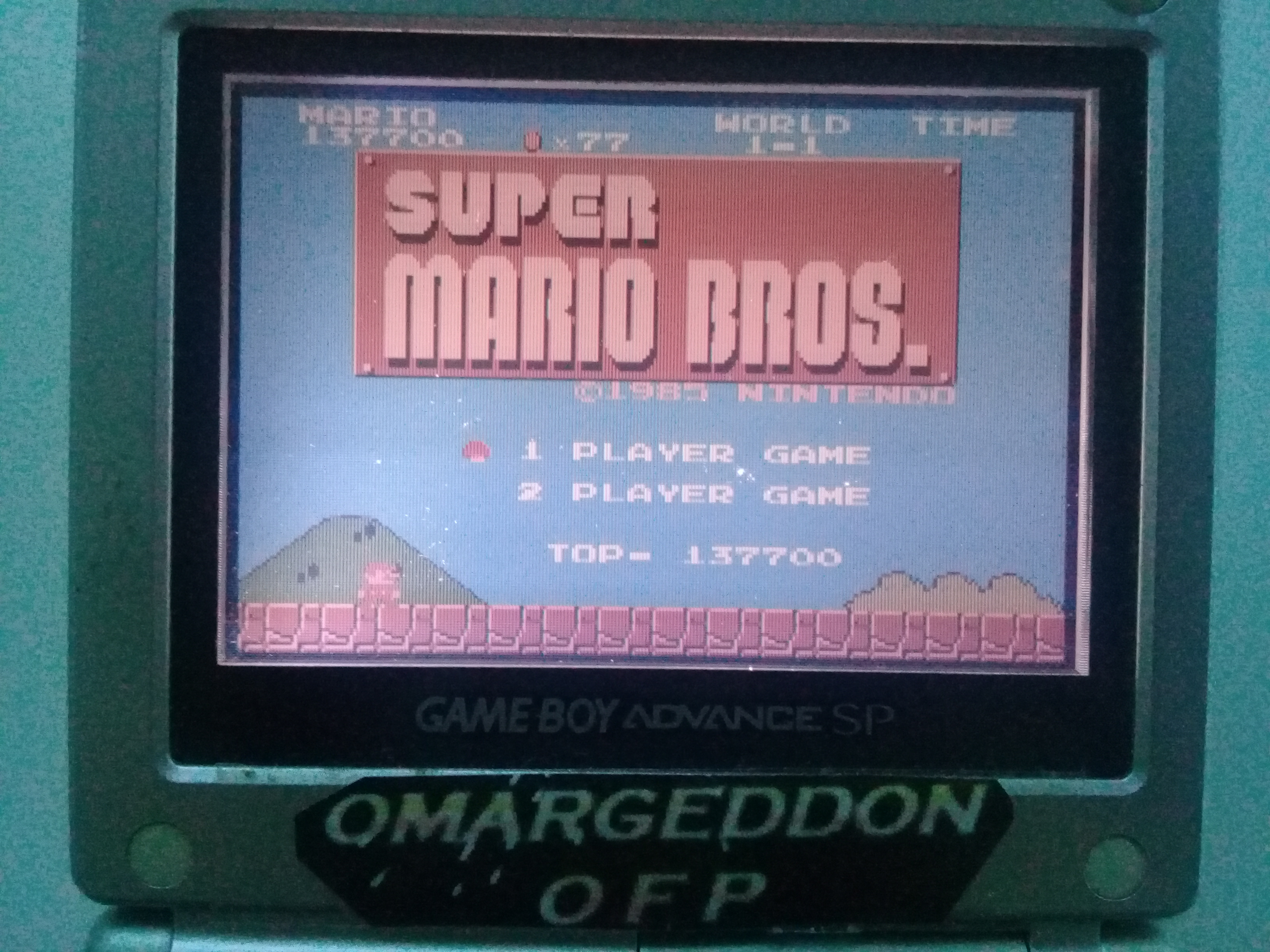 omargeddon: Famicom Mini: Vol. 1: Super Mario Bros. (GBA) 137,700 points on 2018-12-08 17:10:20