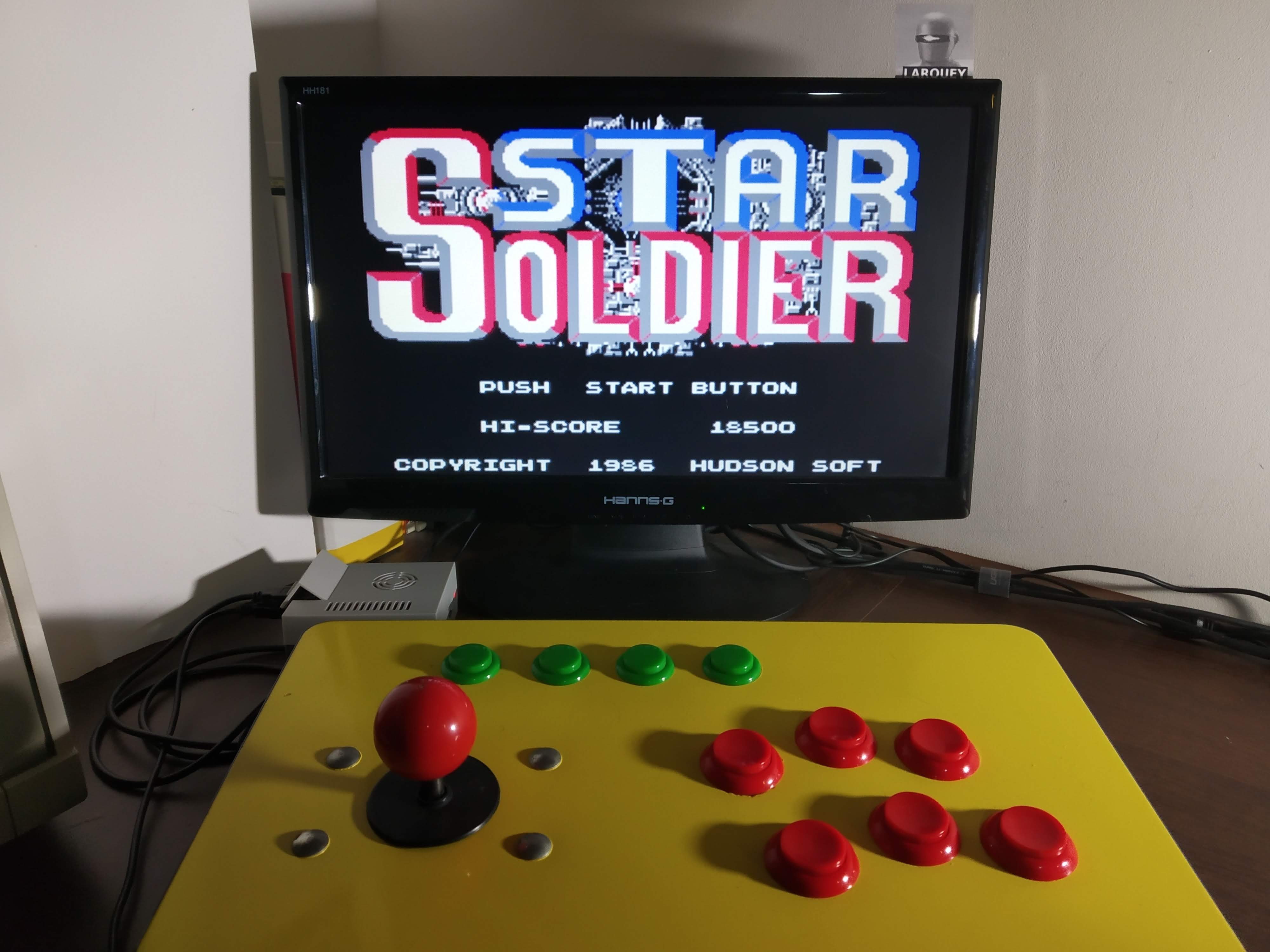 Famicom Mini Vol. 10: Star Soldier 18,500 points