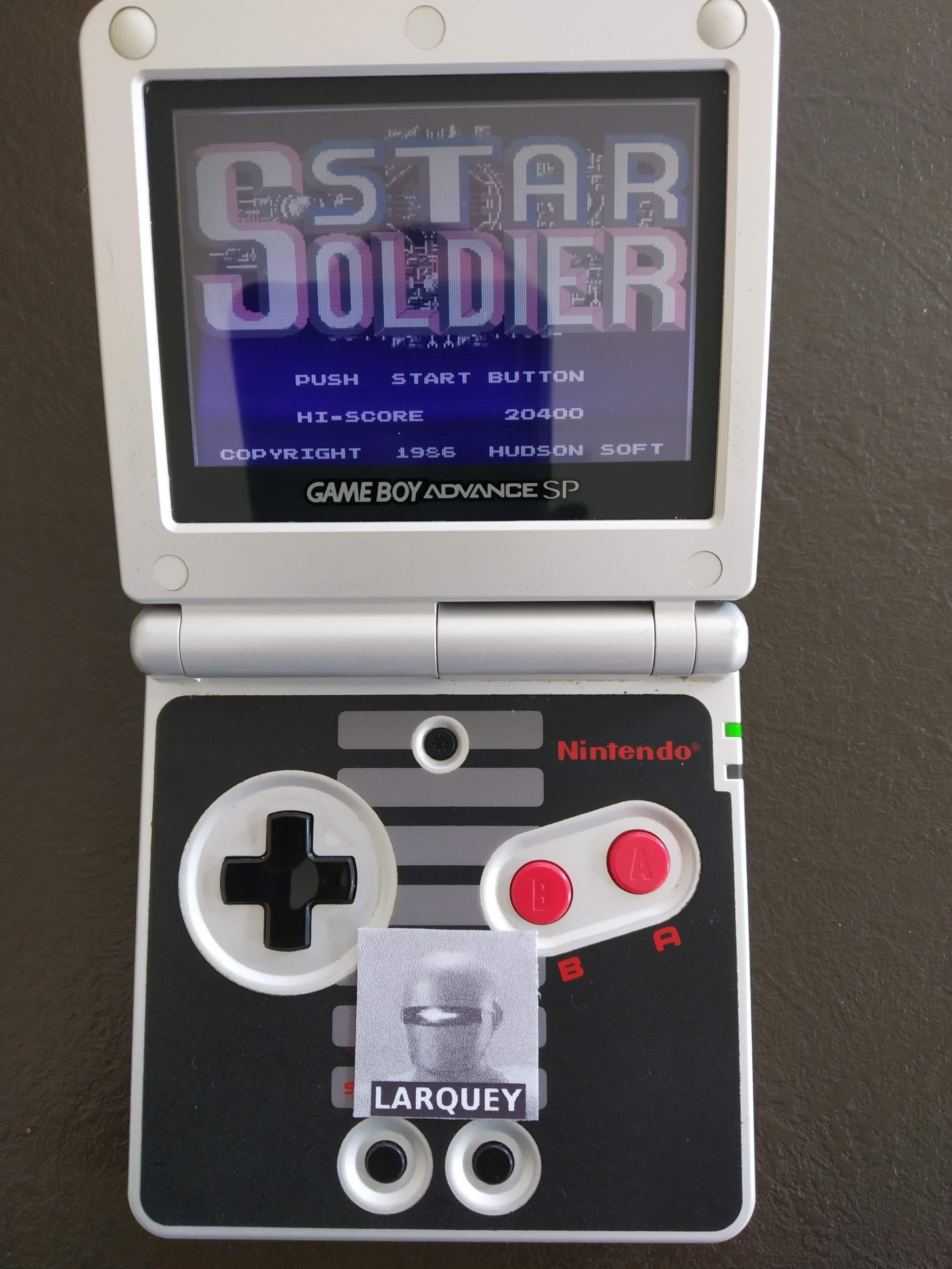 Famicom Mini Vol. 10: Star Soldier 20,400 points