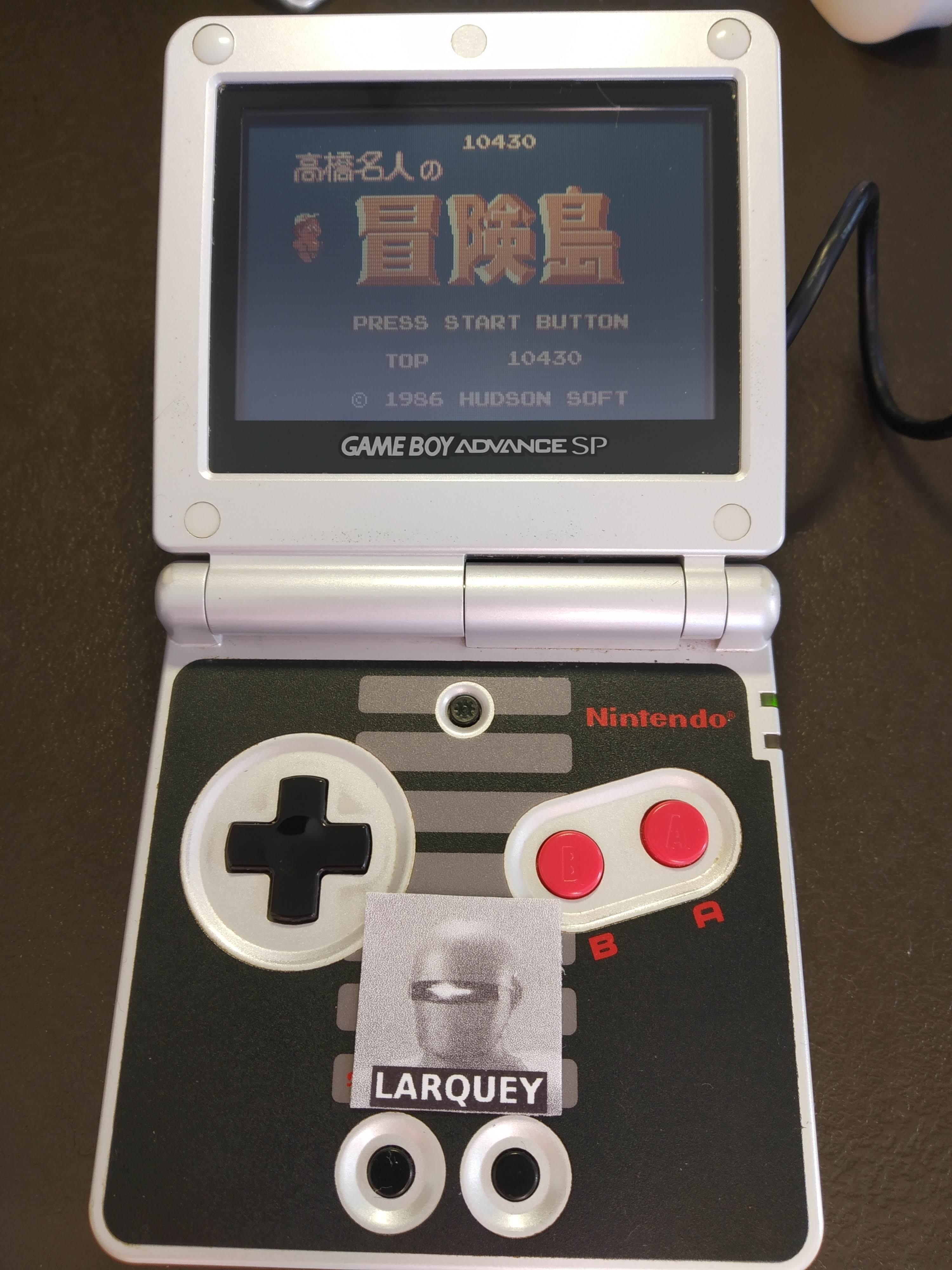 Larquey: Famicom Mini Vol. 17: Takahashi Meijin No Boukenjima (GBA) 10,430 points on 2019-12-27 07:16:17