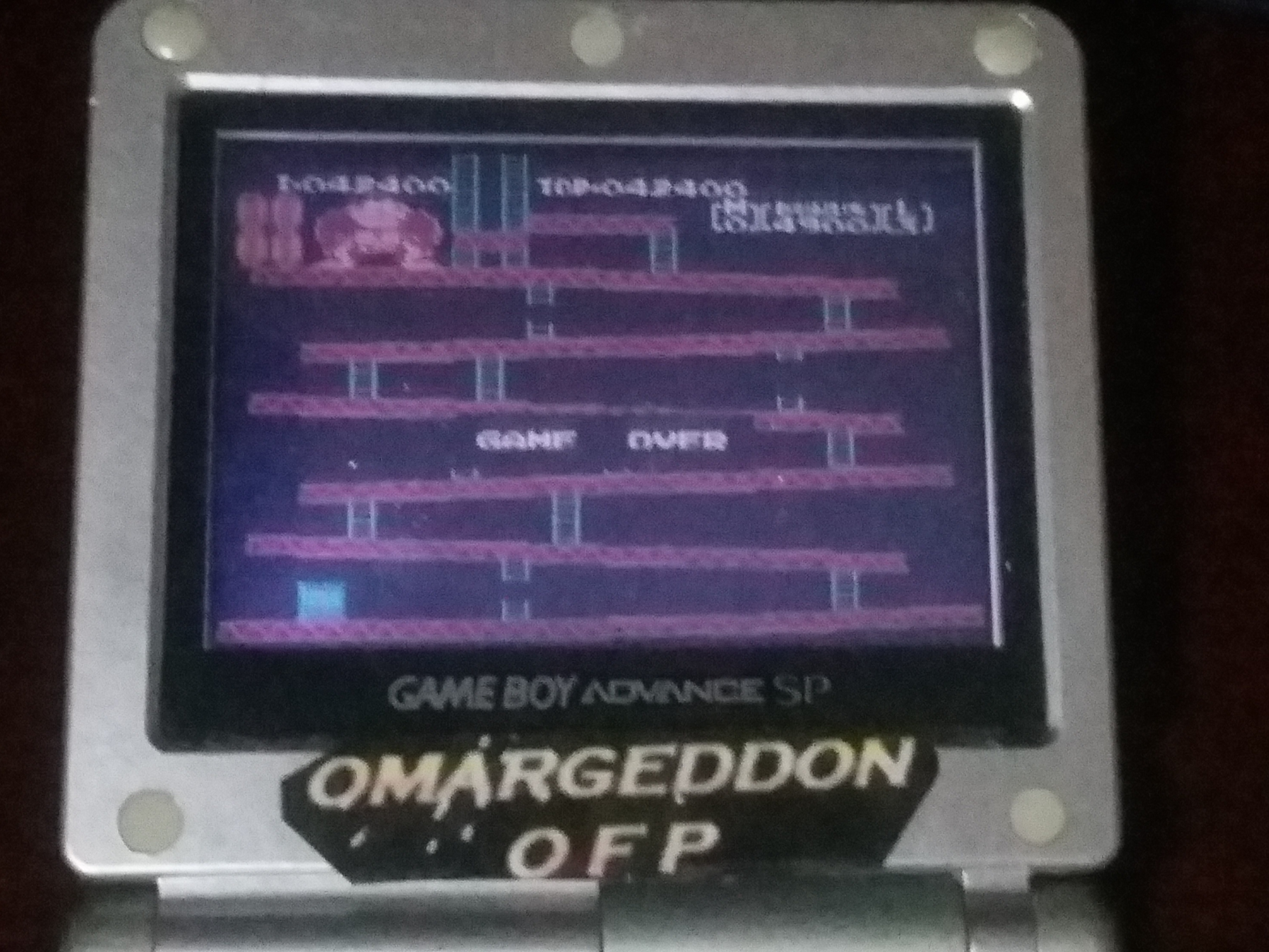omargeddon: Famicom Mini: Vol. 2: Donkey Kong [Game A] (GBA) 42,400 points on 2018-04-25 19:54:05