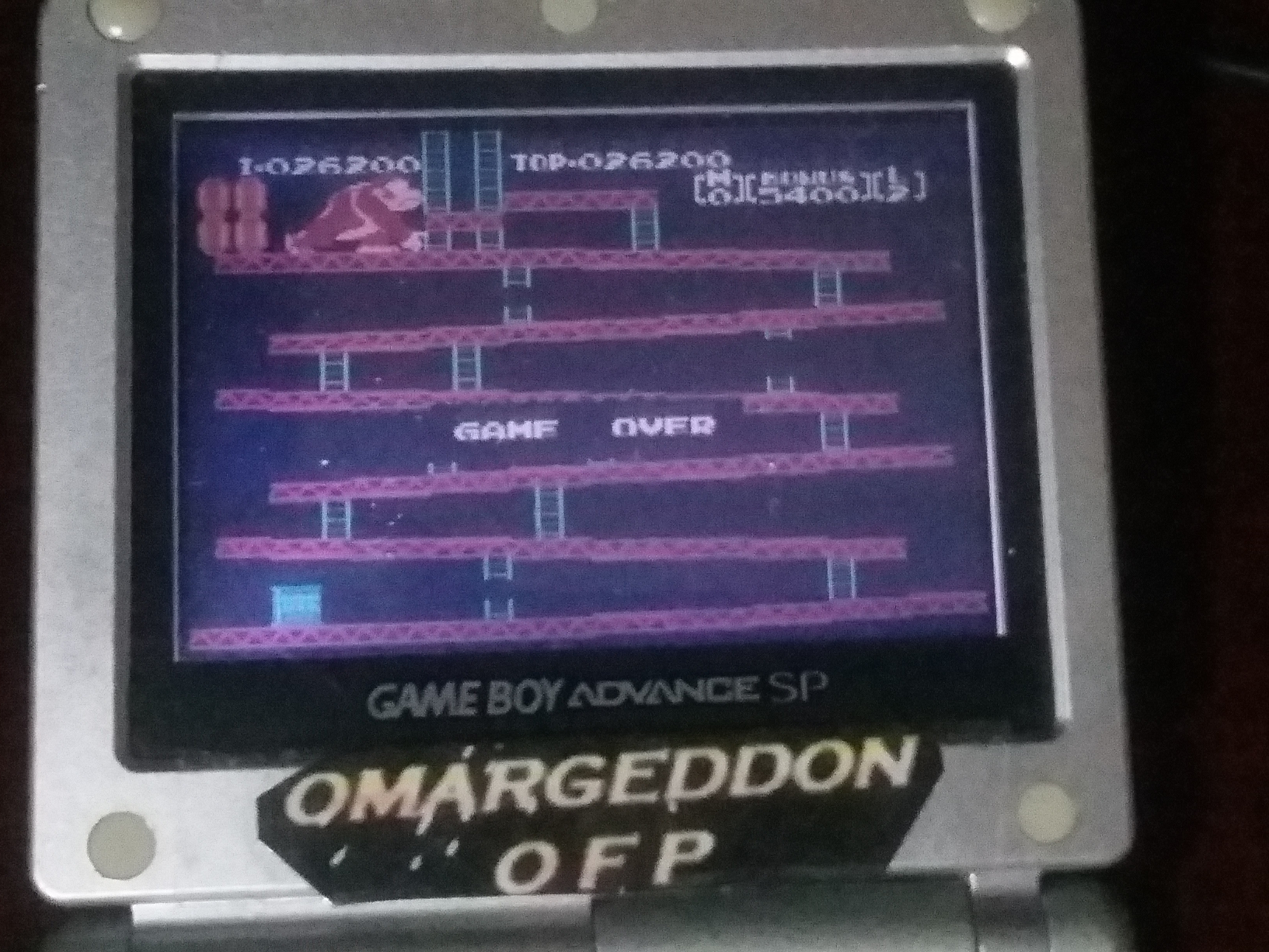 omargeddon: Famicom Mini: Vol. 2: Donkey Kong [Game B] (GBA) 26,200 points on 2018-04-25 20:04:57