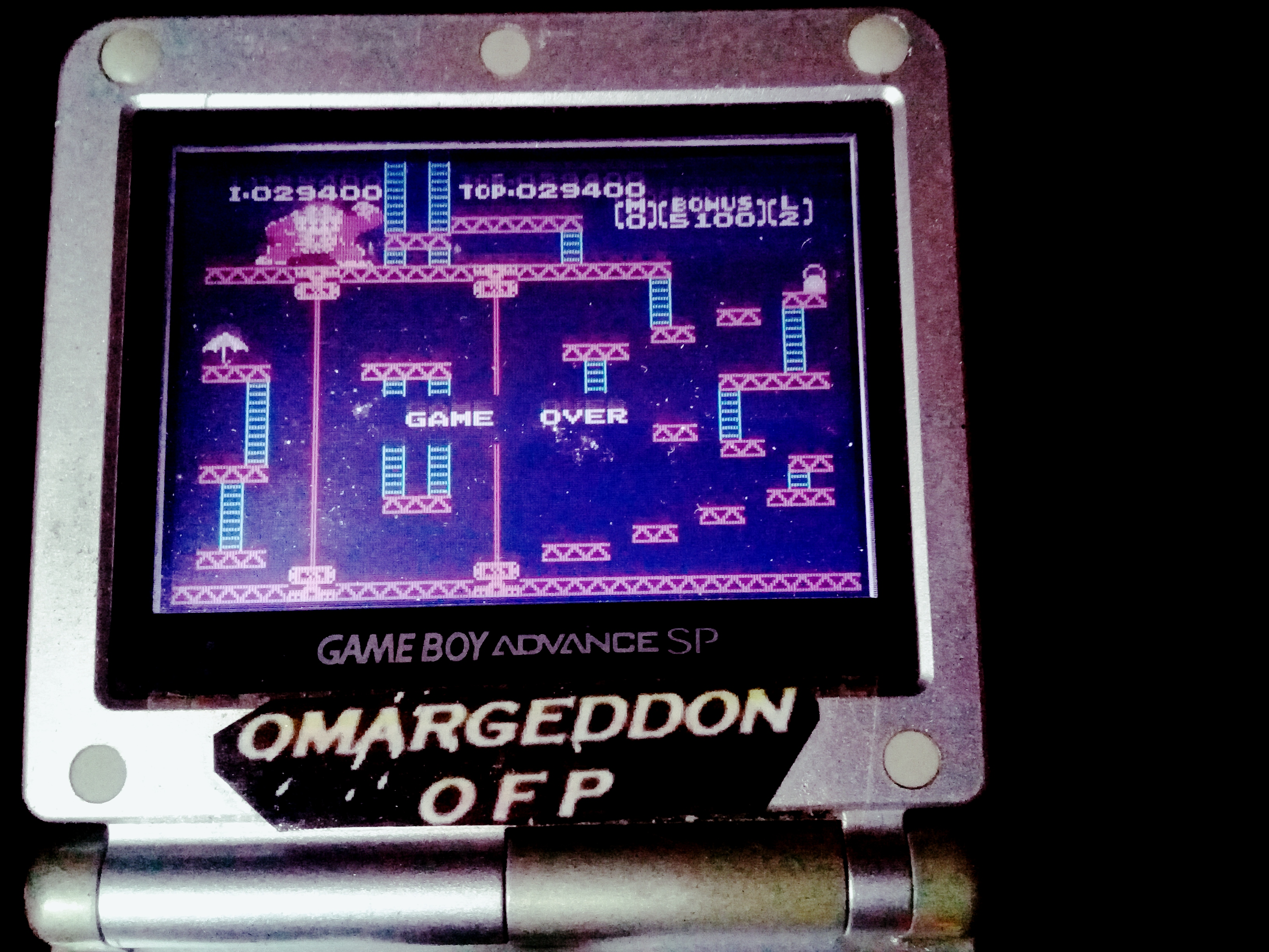 omargeddon: Famicom Mini: Vol. 2: Donkey Kong [Game B] (GBA) 29,400 points on 2019-12-03 10:52:38