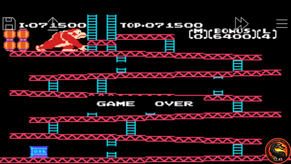 omargeddon: Famicom Mini: Vol. 2: Donkey Kong [Game B] (GBA Emulated) 71,500 points on 2020-06-27 20:02:24