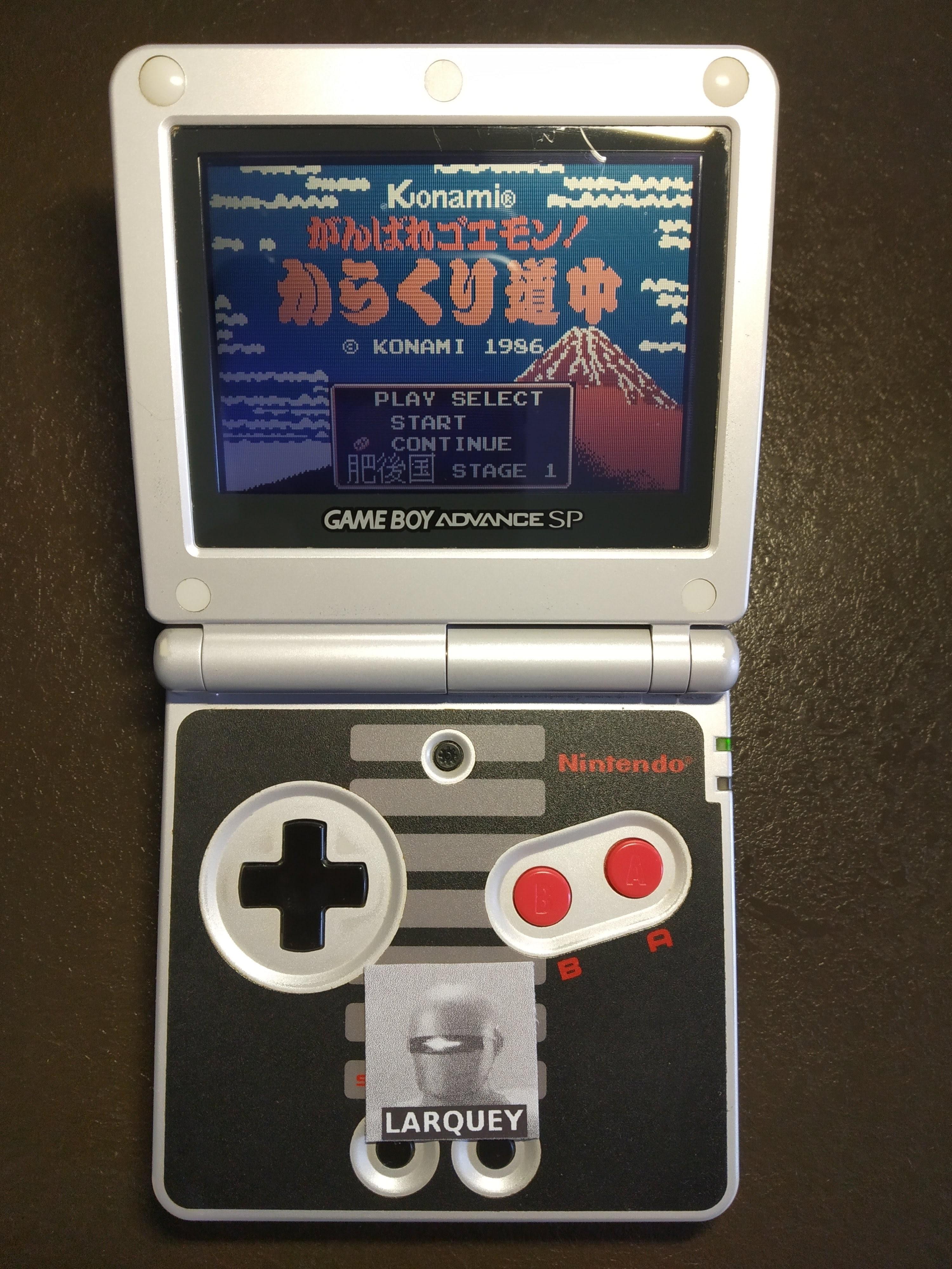 Larquey: Famicom Mini Vol. 20: Ganbare Goemon! Karakuri Douchuu (GBA) 16,400 points on 2019-12-27 08:49:41
