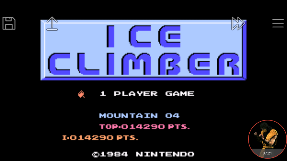 Famicom Mini: Vol. 3: Ice Climber 14,290 points