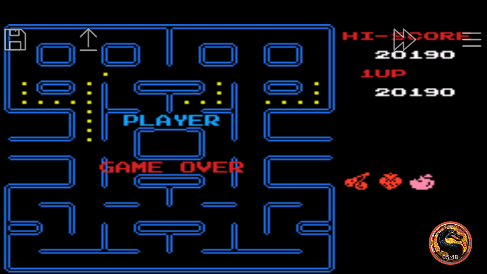 omargeddon: Famicom Mini Vol. 6: Pac-Man (GBA Emulated) 20,190 points on 2019-12-05 08:45:23