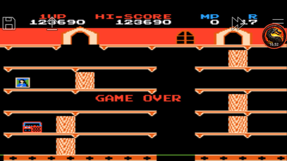 omargeddon: Famicom Mini Vol. 8: Mappy (GBA Emulated) 123,690 points on 2020-07-26 00:48:17