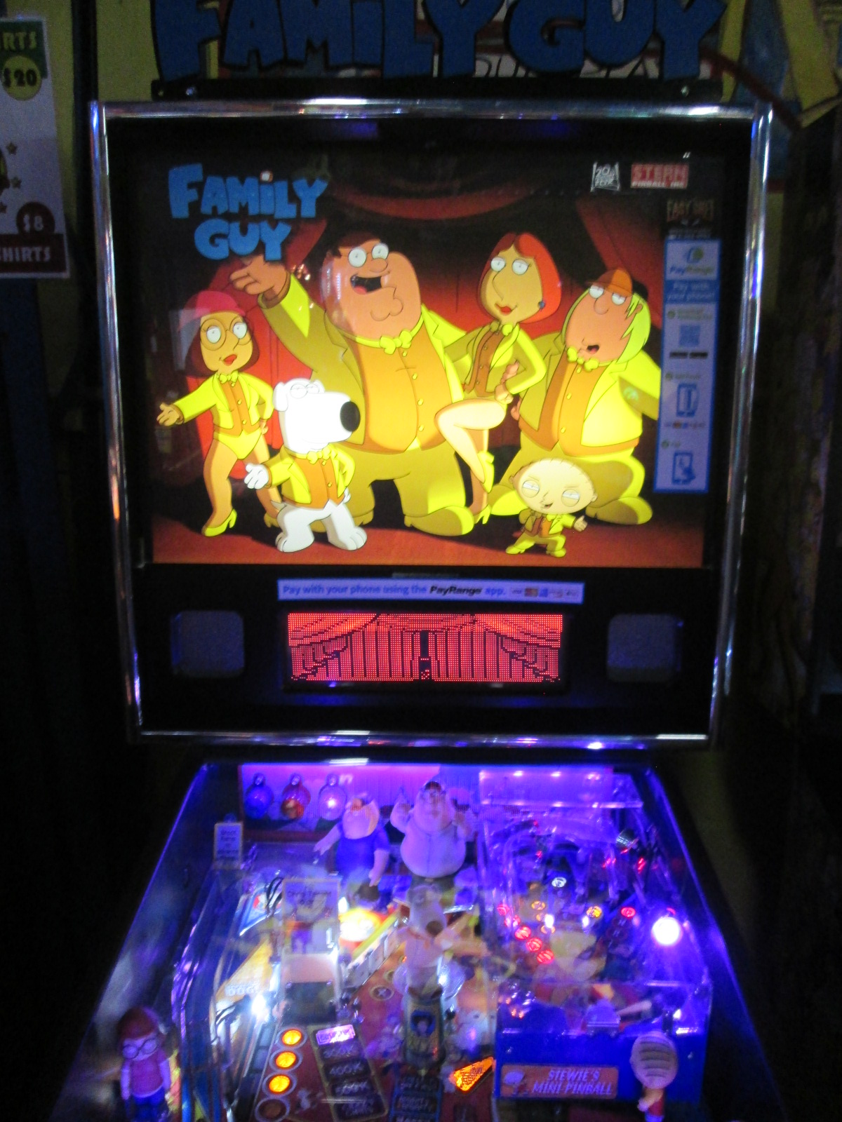 ed1475: Family Guy (Pinball: 3 Balls) 10,708,320 points on 2016-08-25 19:21:50