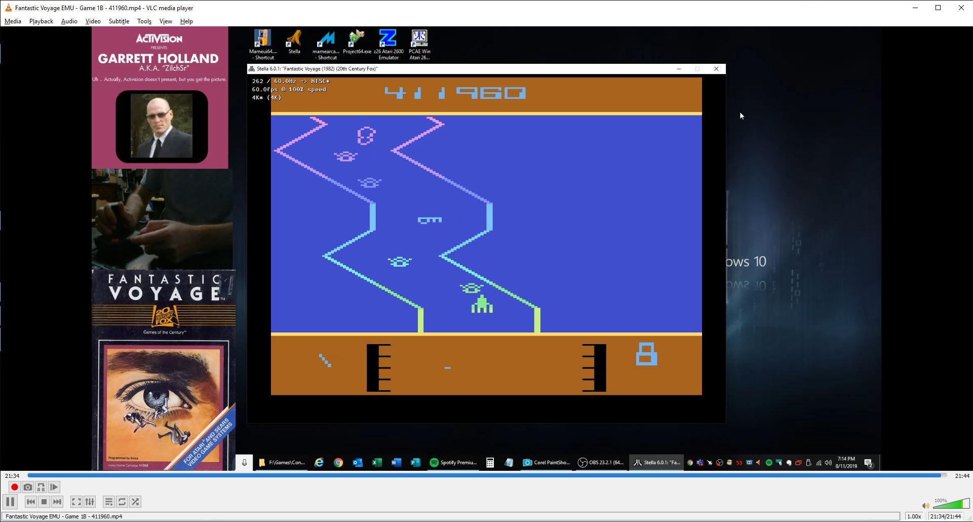 ZilchSr: Fantastic Voyage (Atari 2600 Emulated) 411,960 points on 2019-08-11 18:20:57