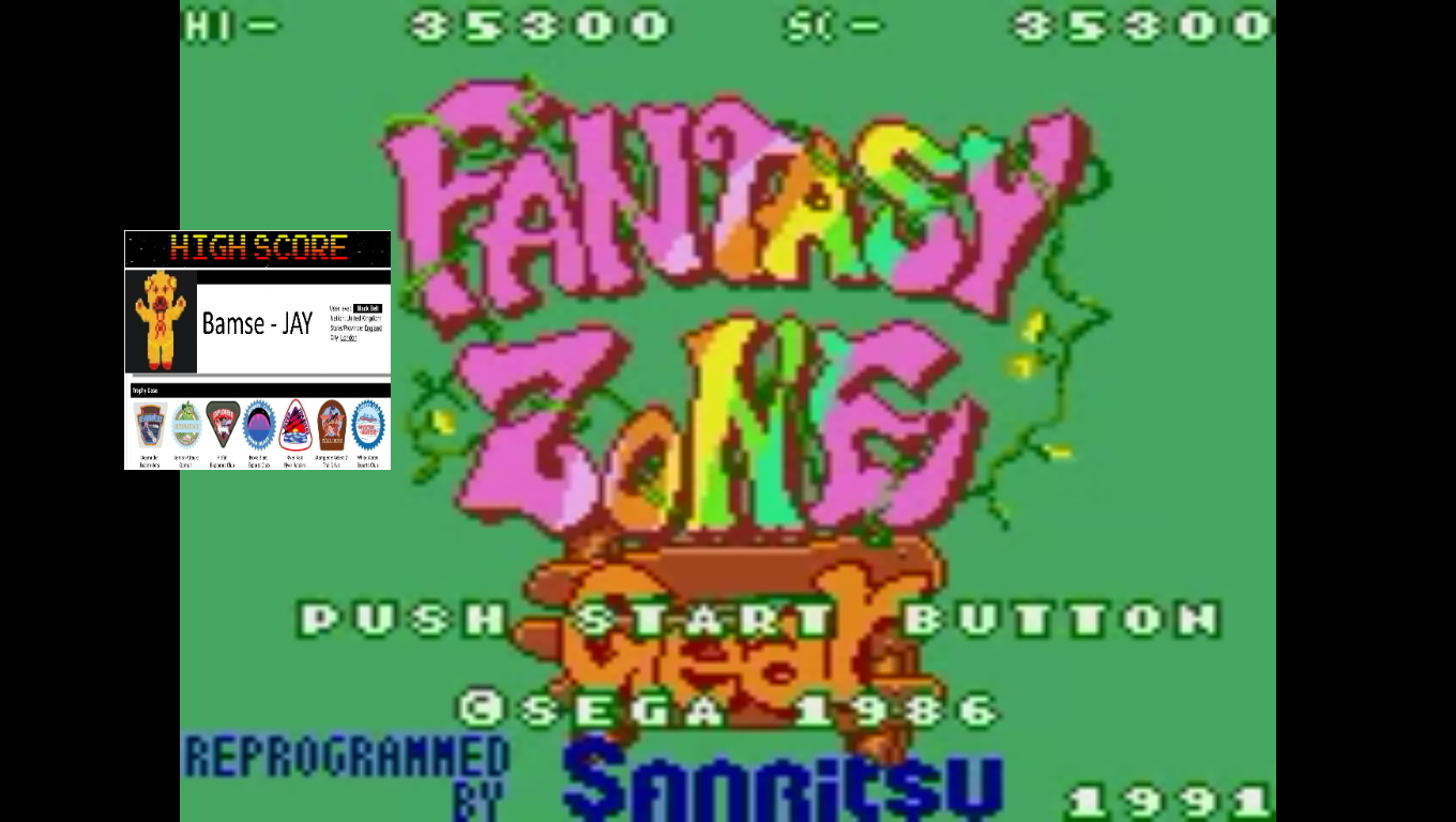 Bamse: Fantasy Zone Gear (Sega Game Gear Emulated) 35,300 points on 2019-11-05 17:26:30