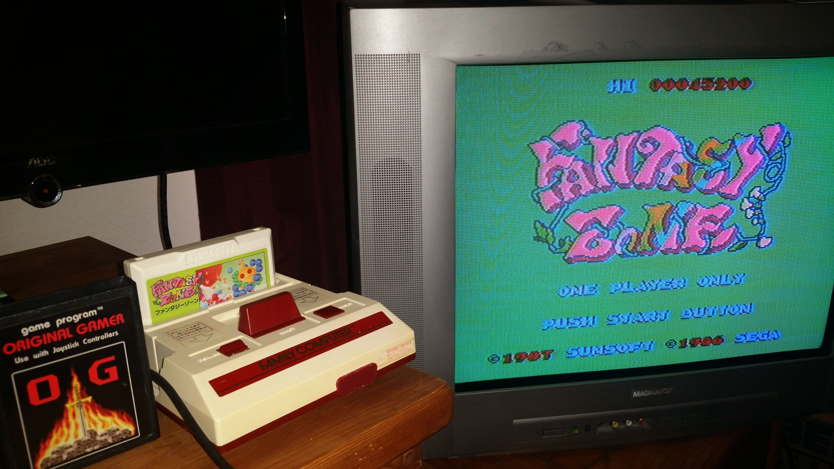OriginalGamer: Fantasy Zone (NES/Famicom) 45,200 points on 2016-06-26 21:43:11