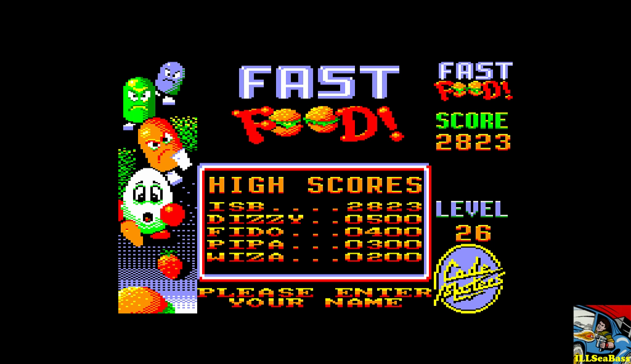 ILLSeaBass: Fast Food (Amstrad CPC Emulated) 2,823 points on 2016-12-26 23:13:16