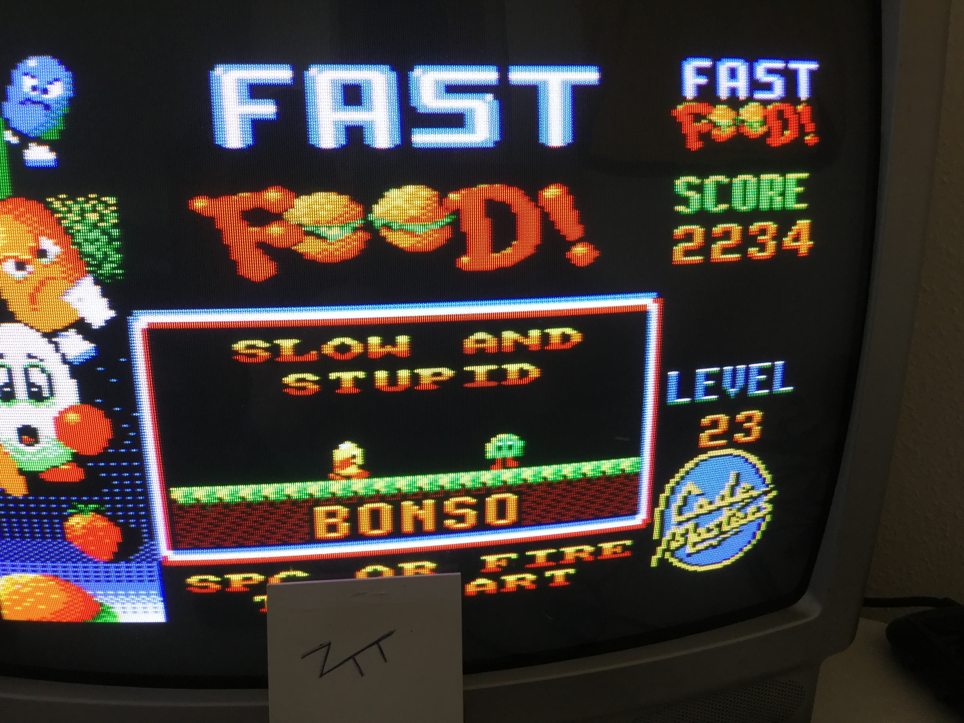 Frankie: Fast Food (Amstrad CPC) 2,234 points on 2017-02-15 06:28:41