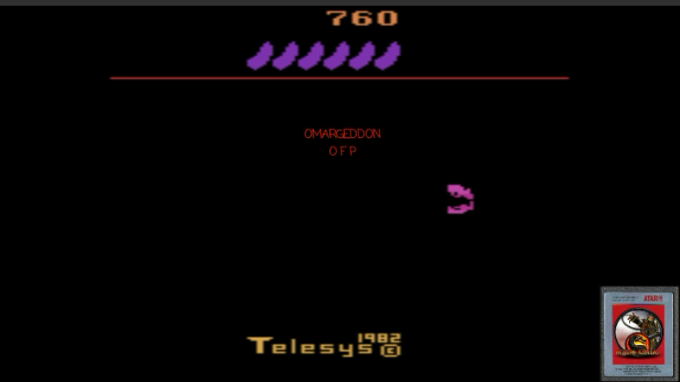 omargeddon: Fast Food (Atari 2600 Emulated Novice/B Mode) 760 points on 2017-02-21 00:18:18