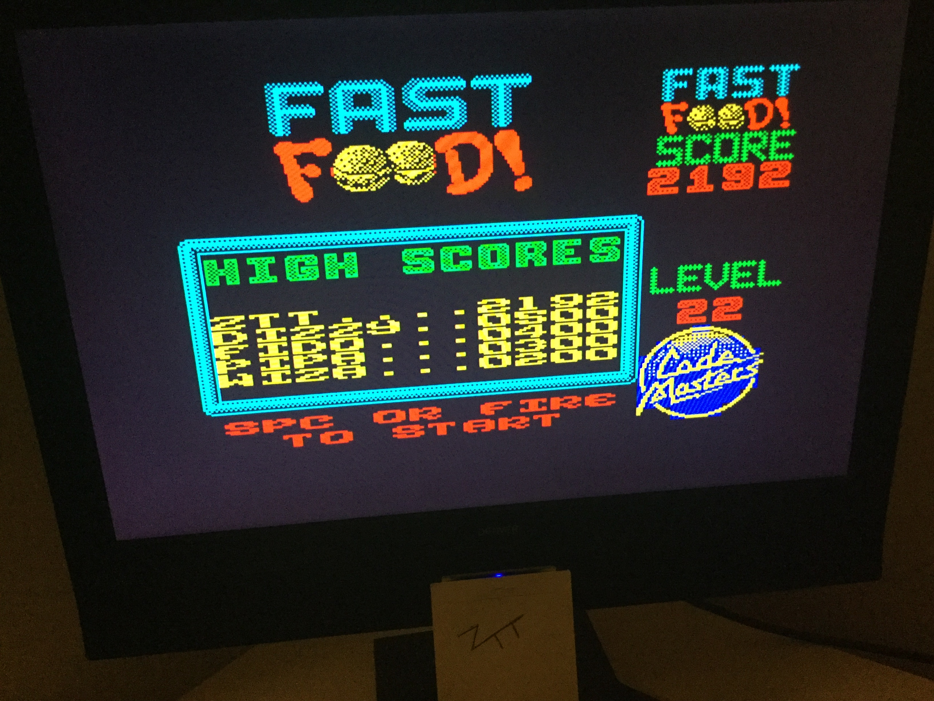 Frankie: Fast Food (ZX Spectrum) 2,192 points on 2019-10-18 03:20:15