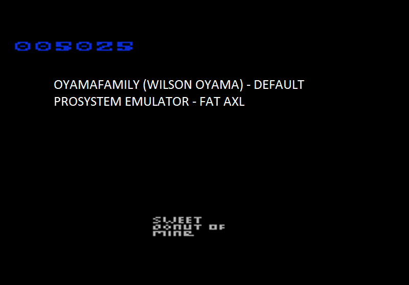 oyamafamily: Fat Axl (Atari 7800 Emulated) 5,025 points on 2016-11-14 17:15:40