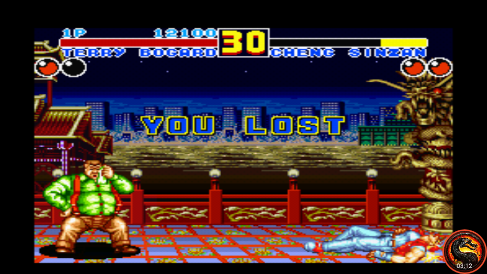 omargeddon: Fatal Fury 2 / Garou Densetsu 2 (SNES/Super Famicom Emulated) 12,100 points on 2020-09-10 15:42:29