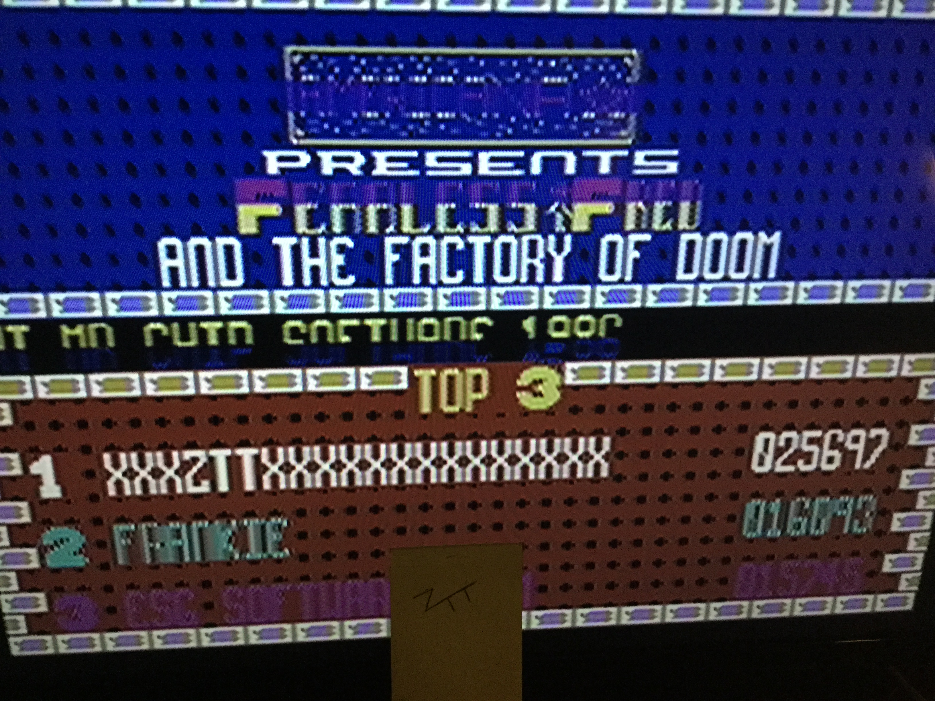Frankie: Fearless Fred And The Factory Of Doom (Commodore 64) 25,697 points on 2019-05-30 16:47:42
