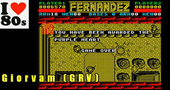 Giorvam: Fernandez Must Die (ZX Spectrum Emulated) 6,570 points on 2018-01-10 16:16:00