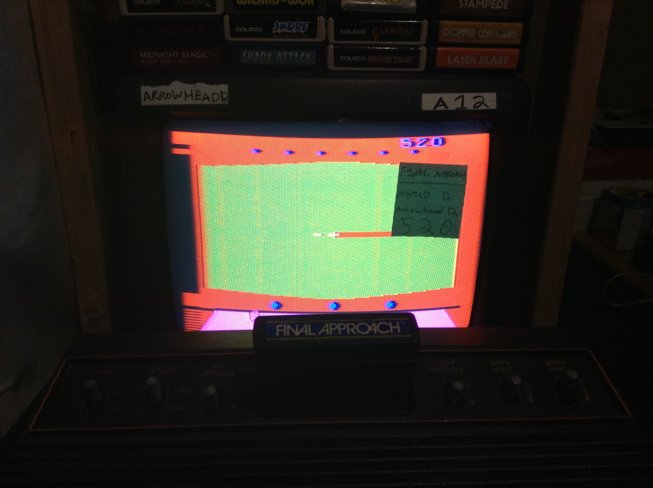 Arrowhead12: Final Approach (Atari 2600 Novice/B) 520 points on 2019-05-07 23:08:08