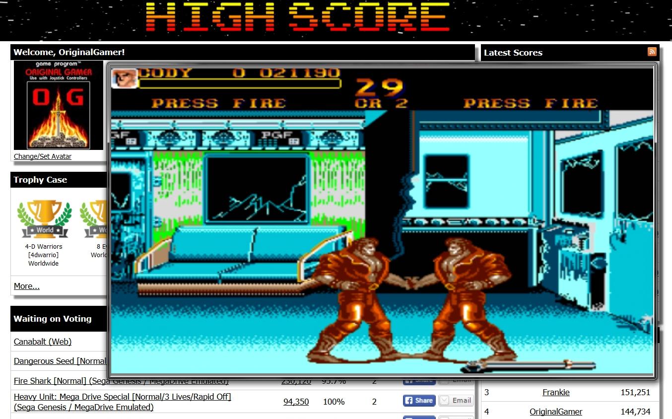 OriginalGamer: Final Fight (Amiga Emulated) 21,190 points on 2015-06-29 22:19:50