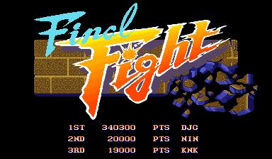 derek: Final Fight (Arcade Emulated / M.A.M.E.) 340,300 points on 2017-12-24 20:00:01