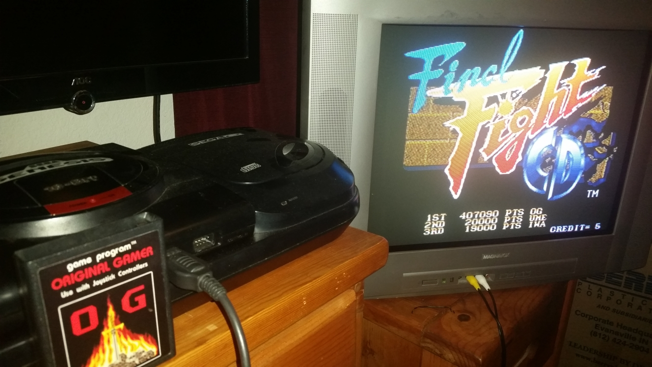 OriginalGamer: Final Fight CD (Sega Genesis / MegaDrive) 407,090 points on 2016-07-13 17:10:58