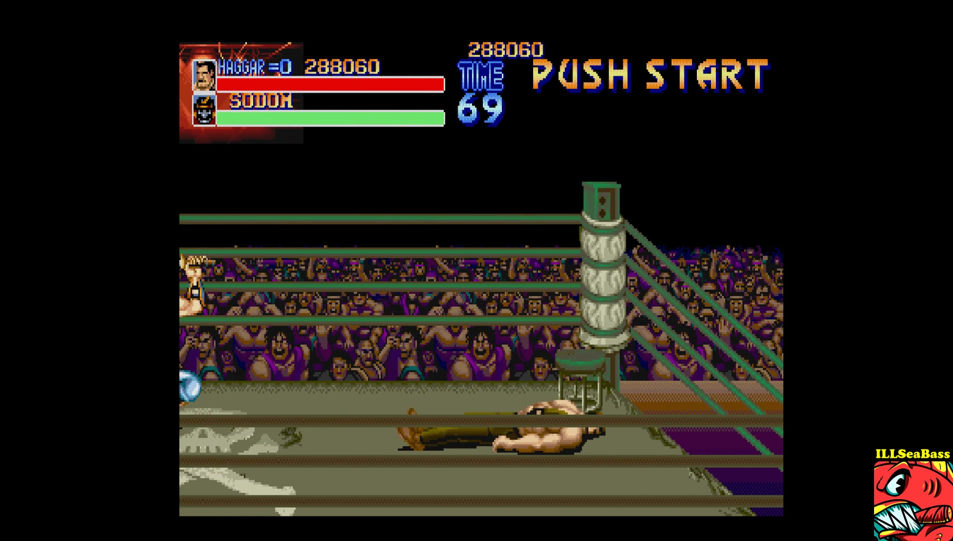 ILLSeaBass: Final Fight [Easy] (Sharp X68000 Emulated) 288,060 points on 2017-06-29 14:03:12