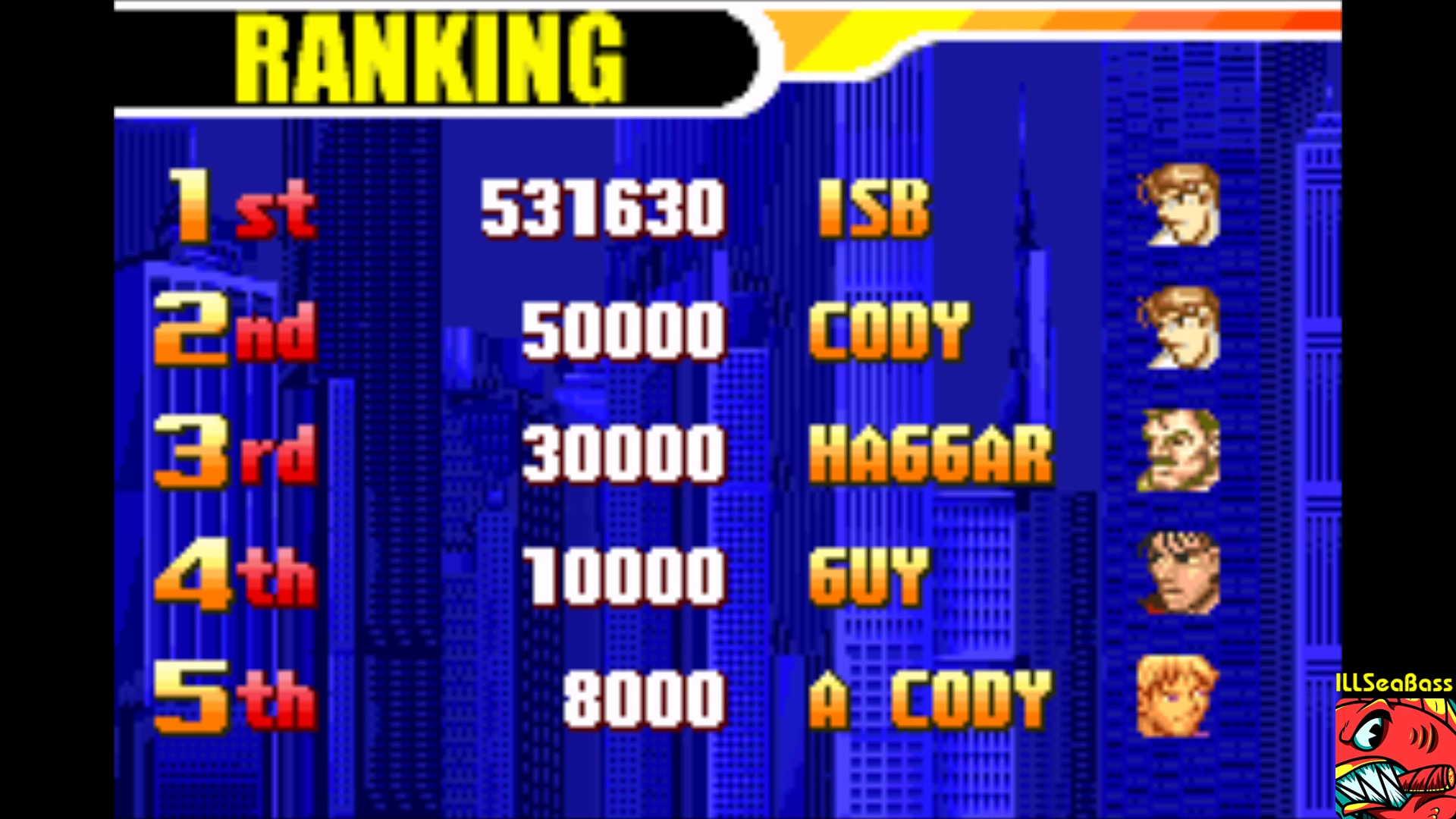 ILLSeaBass: Final Fight One [Easy] (GBA Emulated) 531,630 points on 2018-01-05 00:38:44