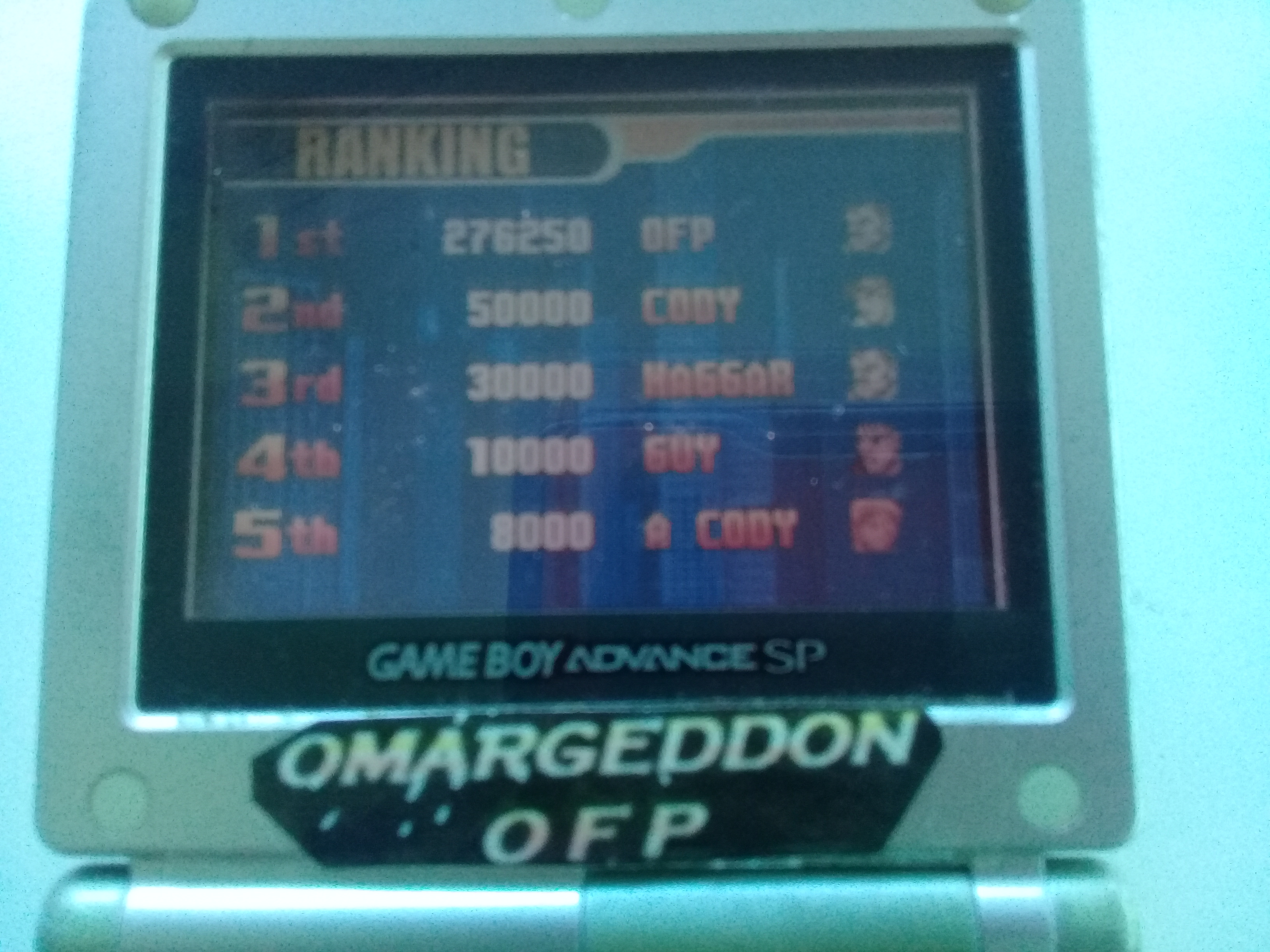 omargeddon: Final Fight One [Hard] (GBA) 276,250 points on 2019-05-19 15:09:56