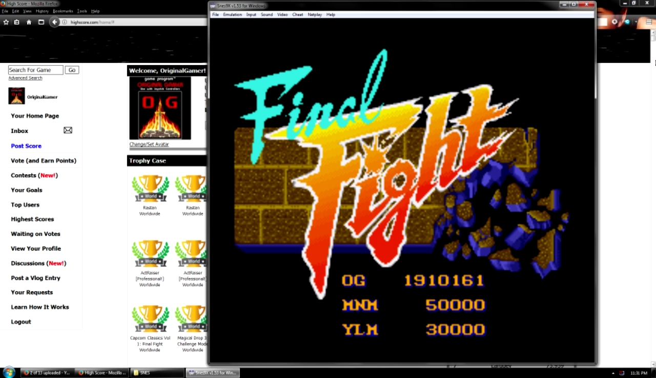 OriginalGamer: Final Fight: With Continue (SNES/Super Famicom Emulated) 1,910,161 points on 2017-10-29 23:35:24