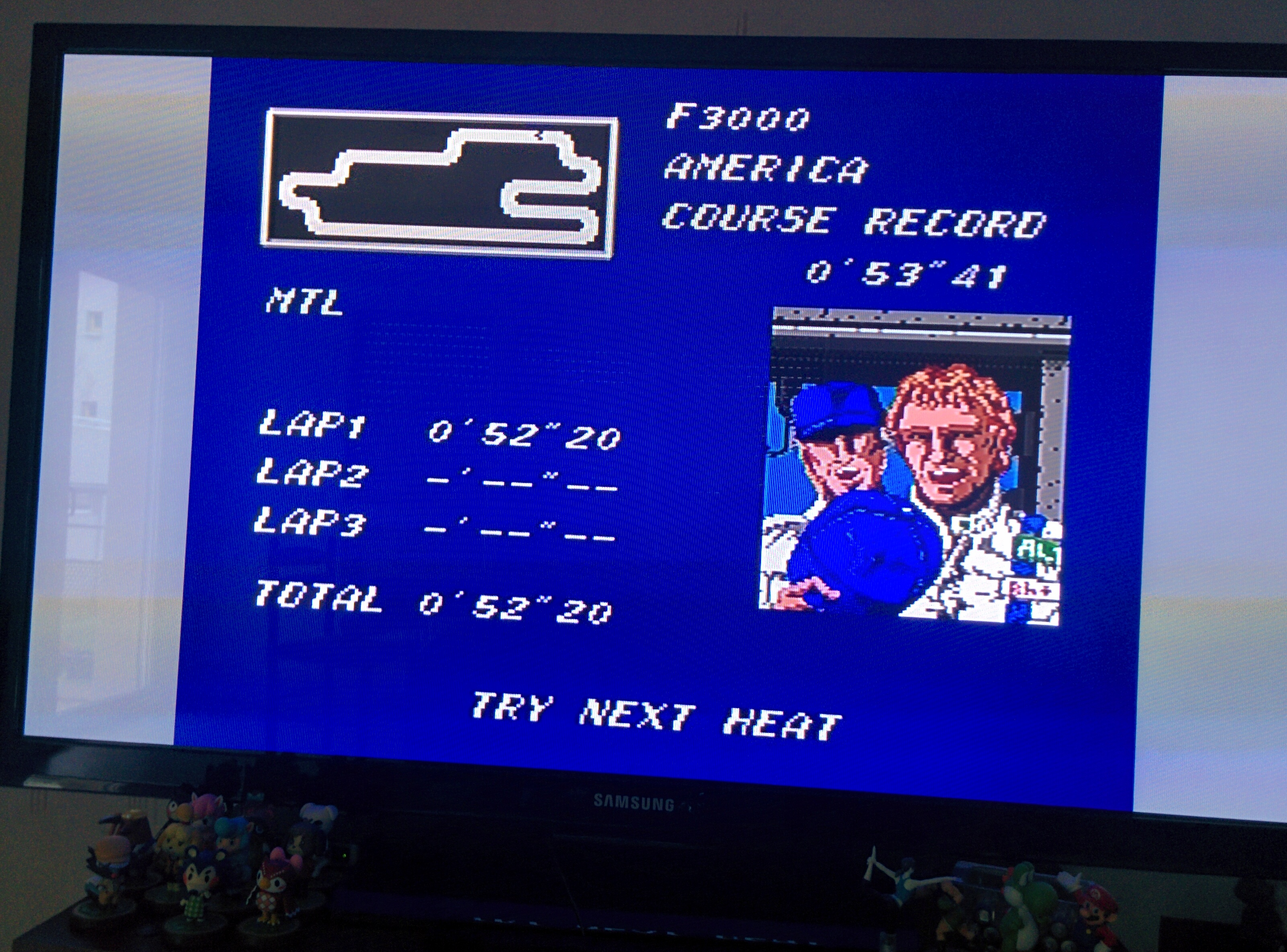 Mantalow: Final Lap Twin [Test/ 1 Lap/ F3000/ America] (TurboGrafx-16/PC Engine) 0:00:52.2 points on 2016-02-08 09:20:33
