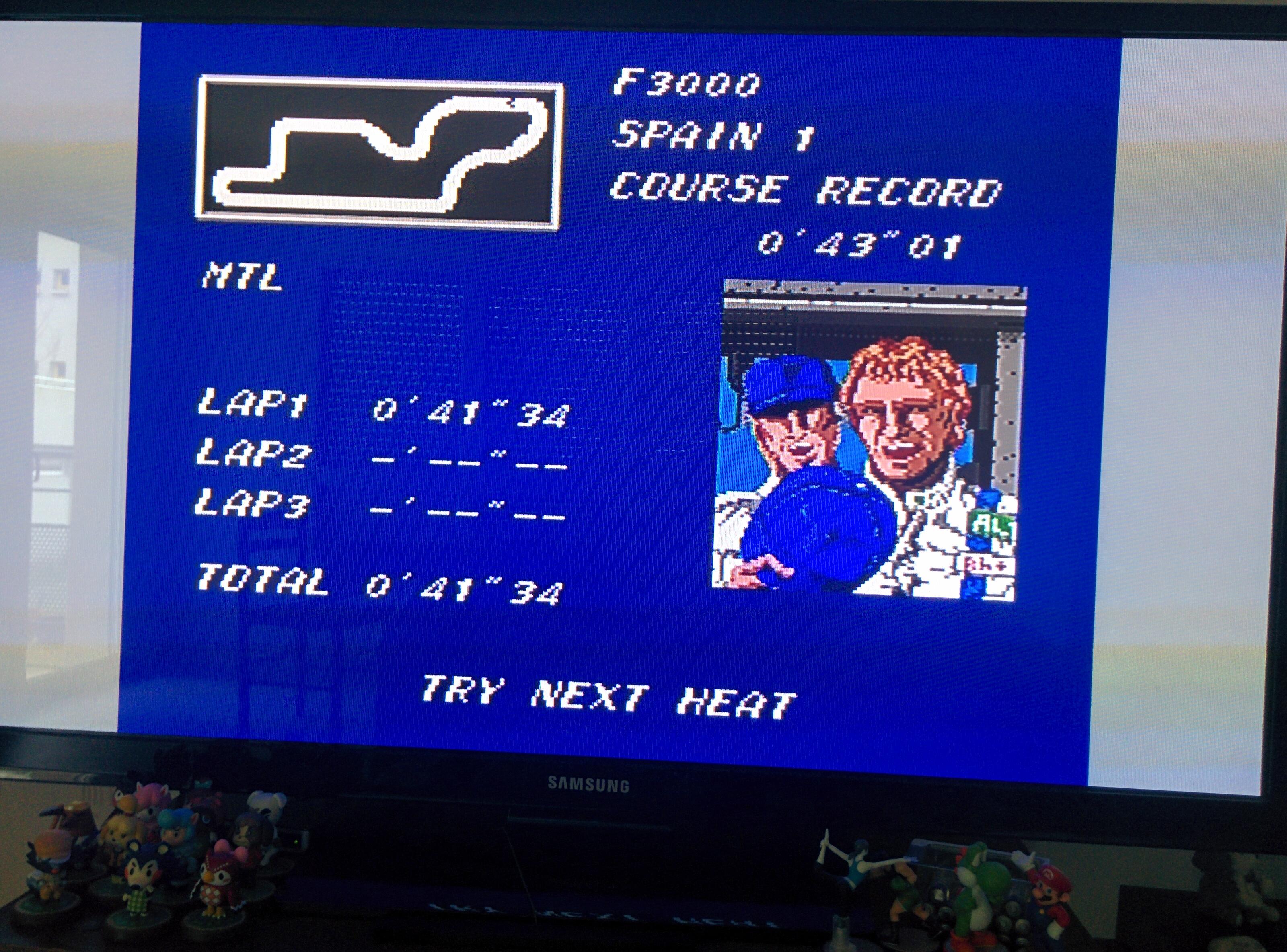 Final Lap Twin [Test/ 1 Lap/ F3000/ Spain 1] time of 0:00:41.34