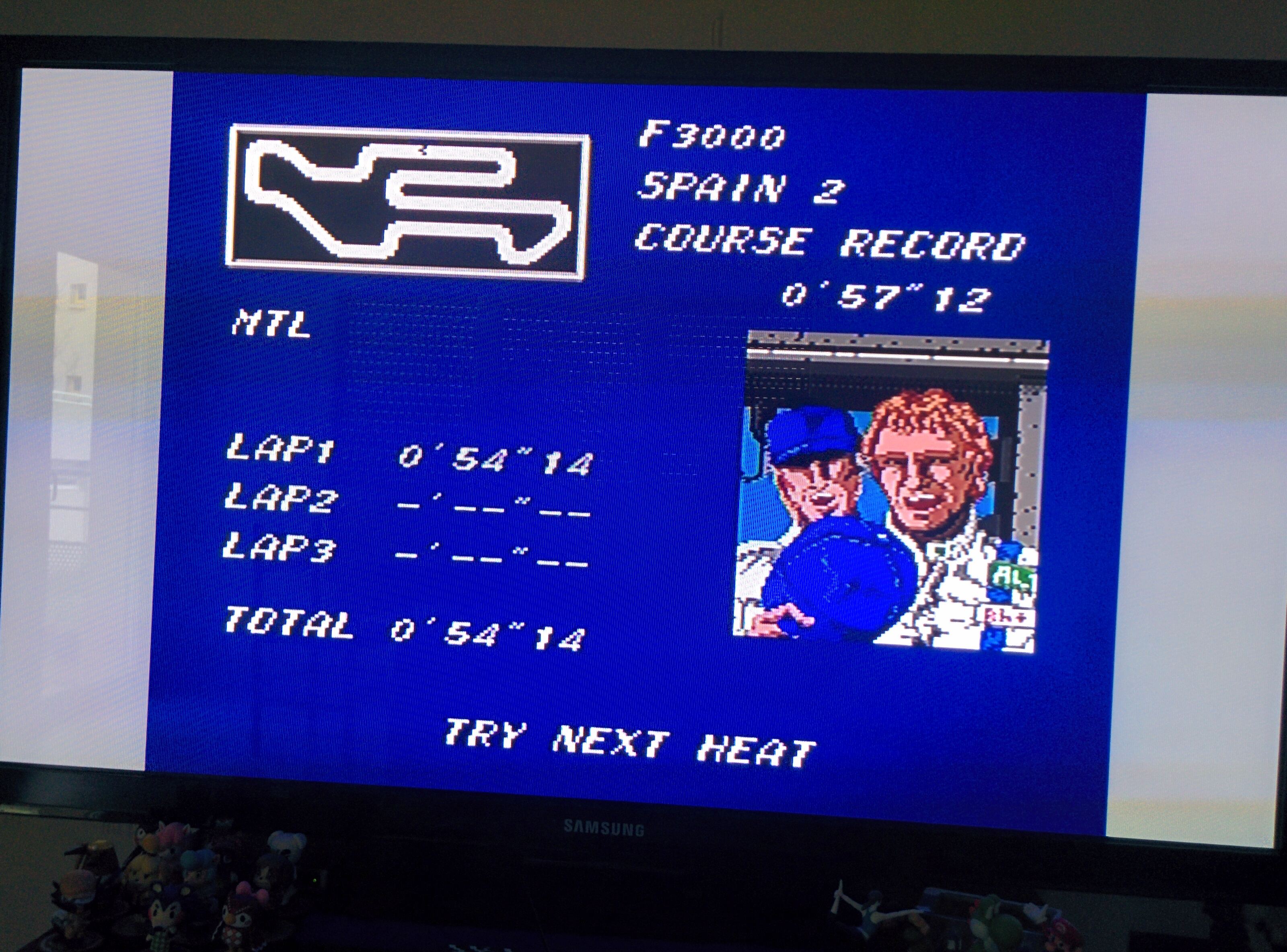 Mantalow: Final Lap Twin [Test/ 1 Lap/ F3000/ Spain 2] (TurboGrafx-16/PC Engine) 0:00:54.14 points on 2016-02-08 09:50:46