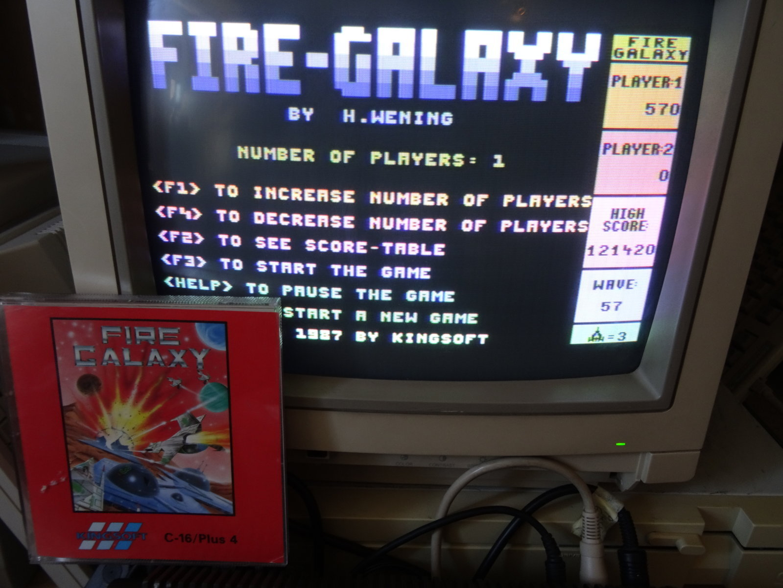 plus4punk: Fire Galaxy [Fast Game] (Commodore 16/Plus4) 121,420 points on 2020-03-25 13:06:44