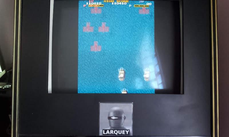 Larquey: Fire Shark / Same! Same! Same! [fireshrk] (Arcade Emulated / M.A.M.E.) 110,410 points on 2018-05-21 05:32:48