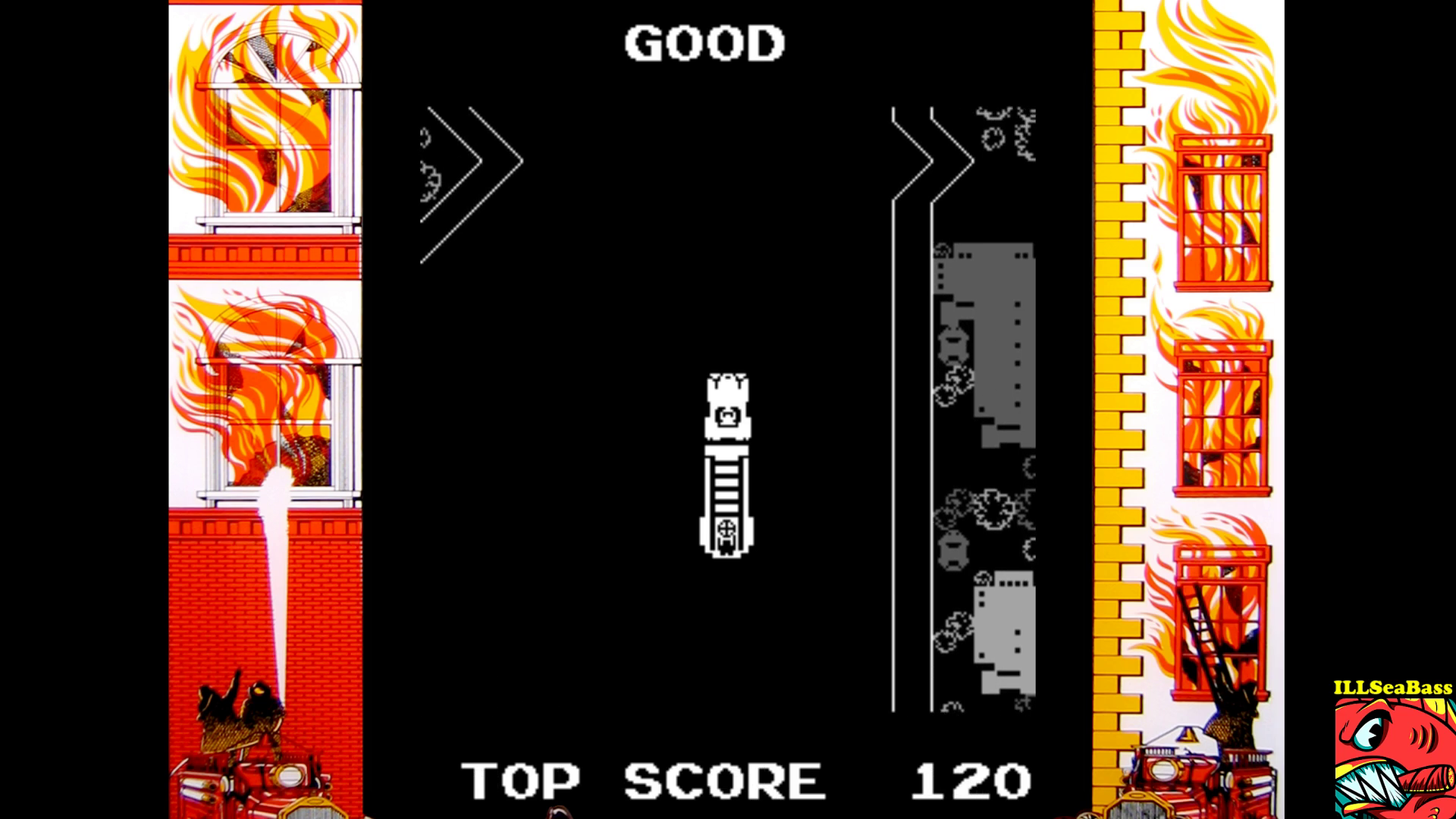 ILLSeaBass: Fire Truck (Arcade Emulated / M.A.M.E.) 120 points on 2017-09-19 22:37:22