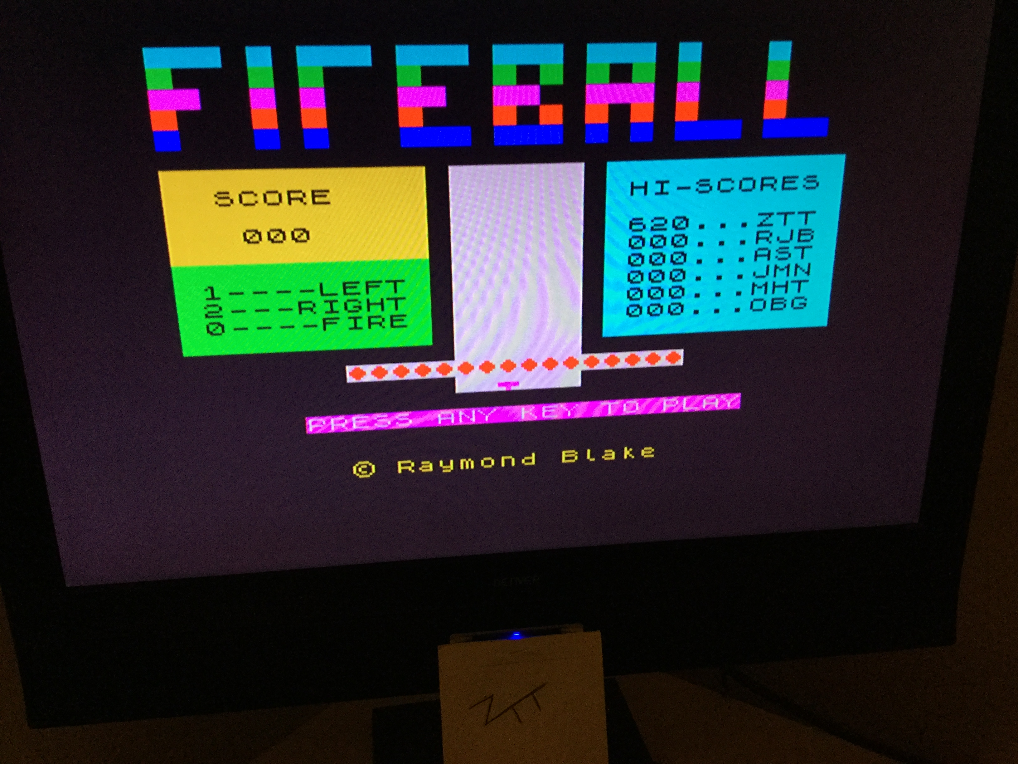 Frankie: Fireball (ZX Spectrum) 620 points on 2019-11-02 03:17:38