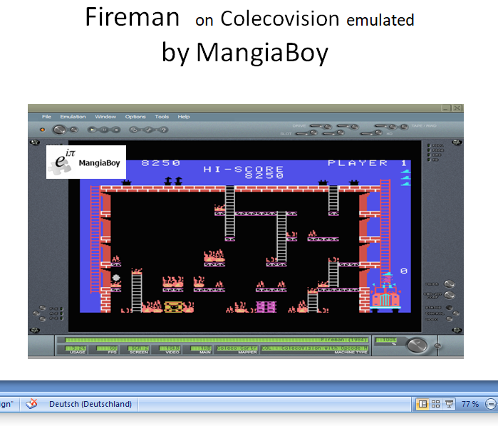 MangiaBoy: Fireman: Skill 1 (Colecovision Emulated) 8,250 points on 2019-01-01 05:30:39