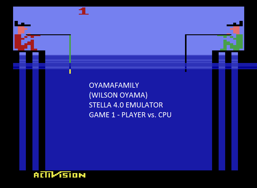 oyamafamily: Fishing Derby [Points Difference] (Atari 2600 Emulated Expert/A Mode) 9 points on 2015-08-03 18:58:05