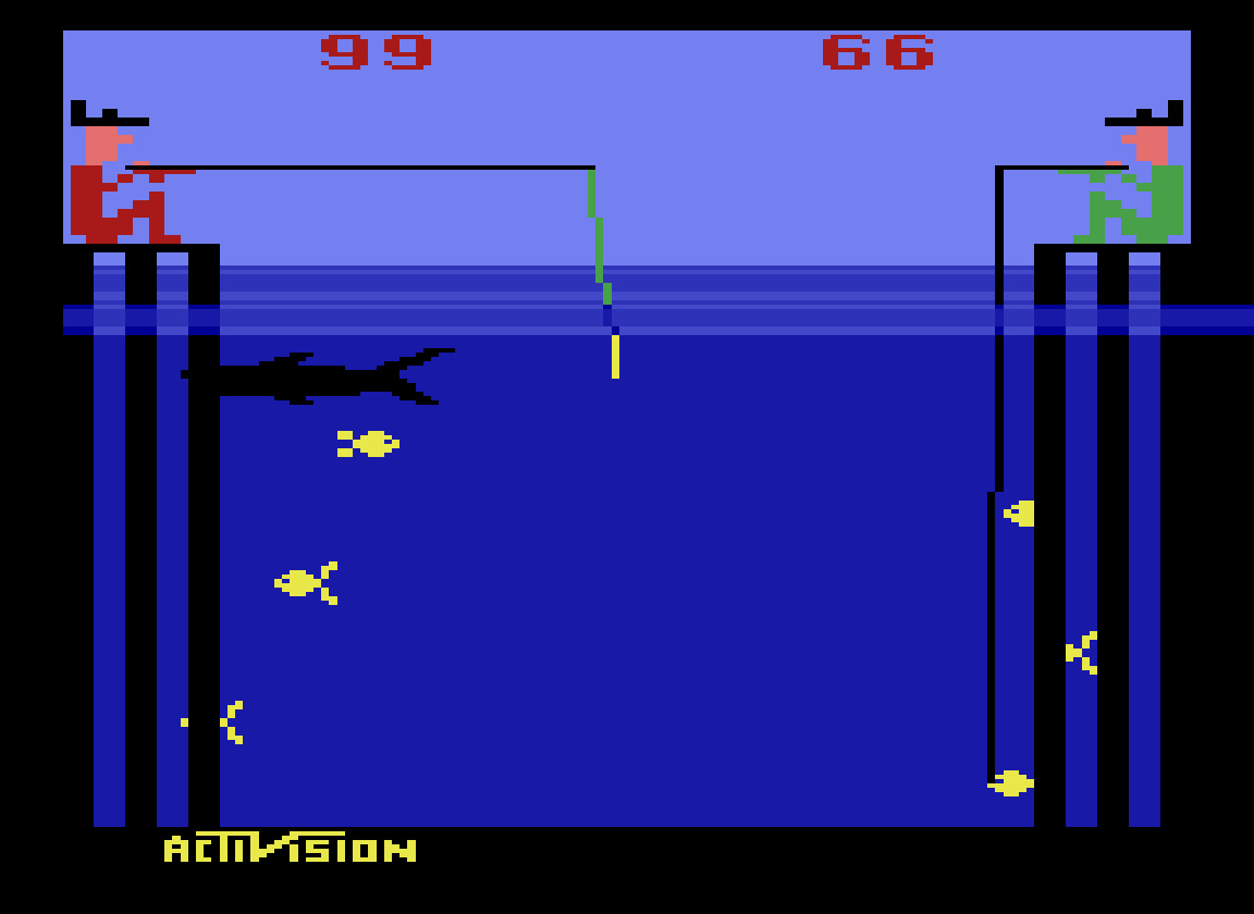 TheTrickster: Fishing Derby [Points Difference] (Atari 2600 Emulated Novice/B Mode) 33 points on 2016-06-25 05:08:03