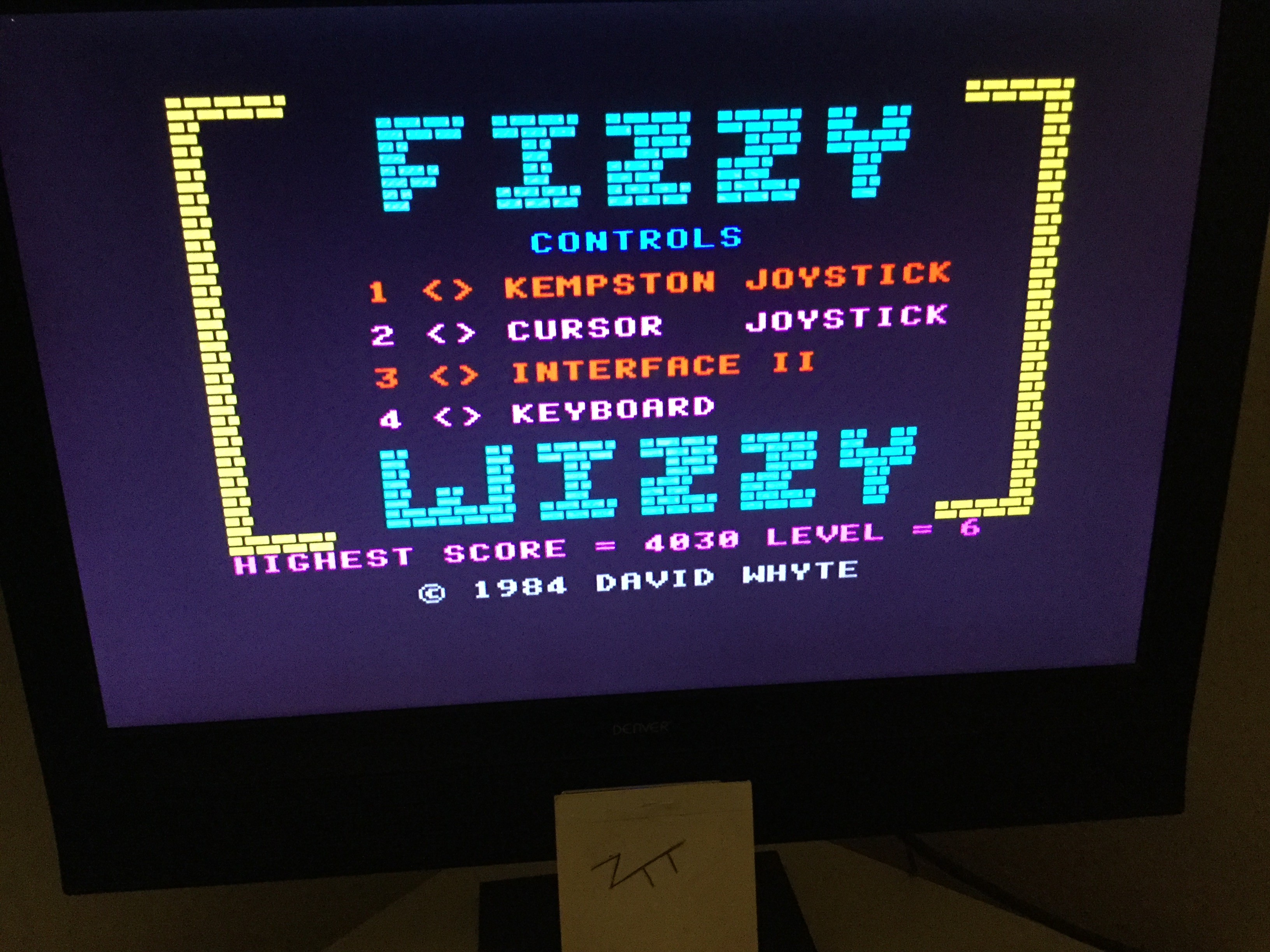 Frankie: Fizzy Wizzy (ZX Spectrum) 4,030 points on 2019-11-10 03:30:58