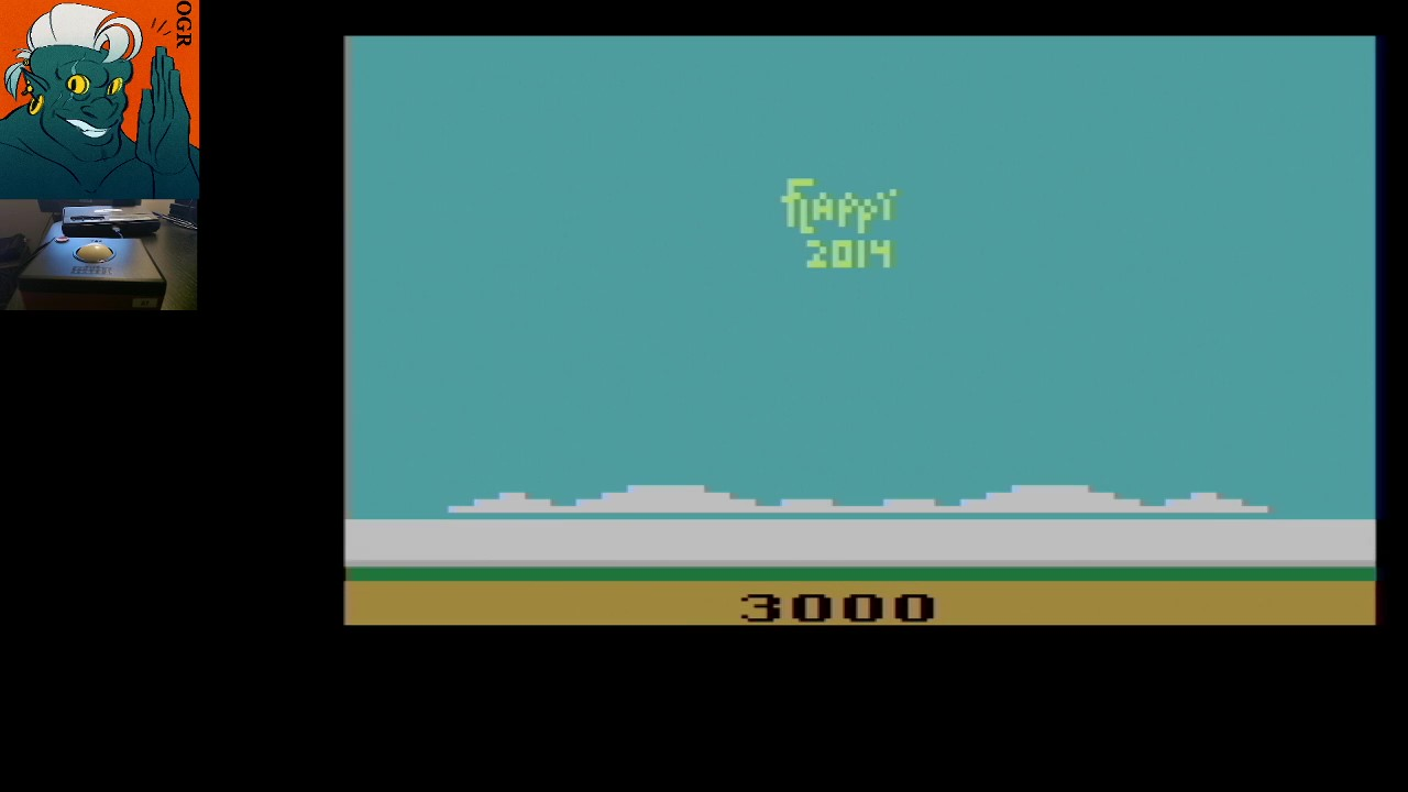 AwesomeOgre: Flappy (Atari 2600) 3,000 points on 2020-06-13 16:04:36