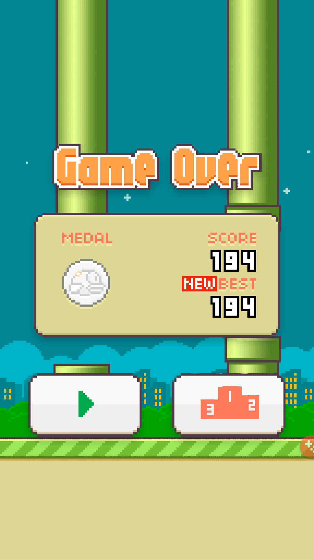 Flappy Bird 194 points