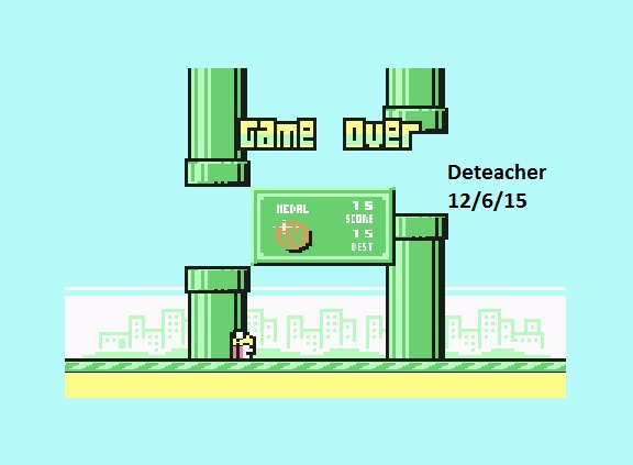 Deteacher: Flappy Bird (Commodore 64 Emulated) 15 points on 2015-12-06 21:50:03