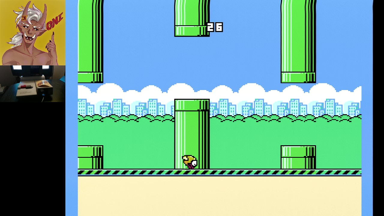 OniDensetsu: Flappy Bird (NES/Famicom) 26 points on 2021-01-24 05:29:49