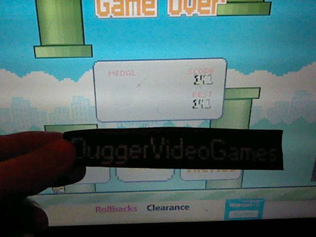 DuggerVideoGames: Flappy Bird (Web) 141 points on 2016-12-13 15:23:28