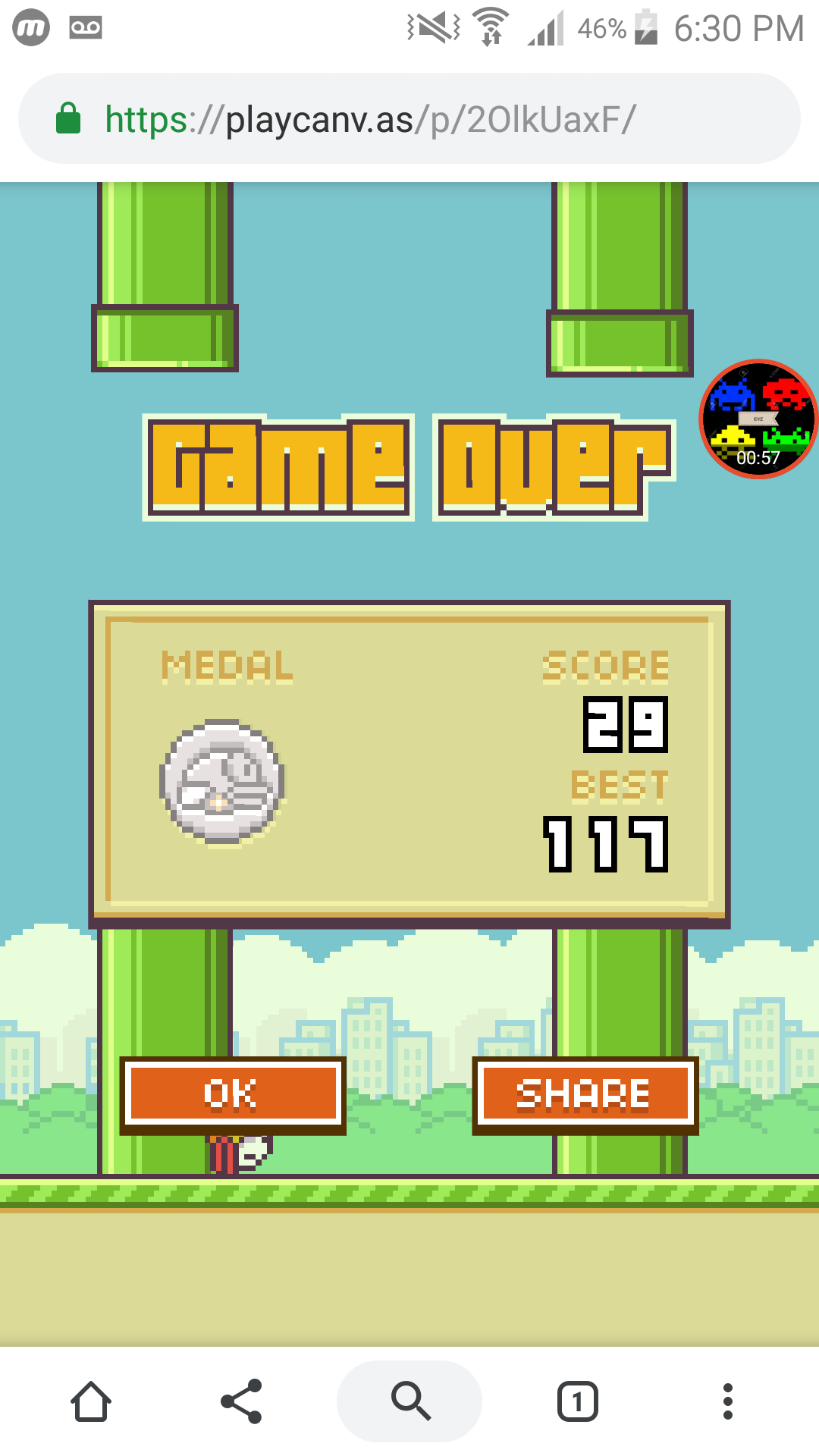 Flappy Bird 29 points