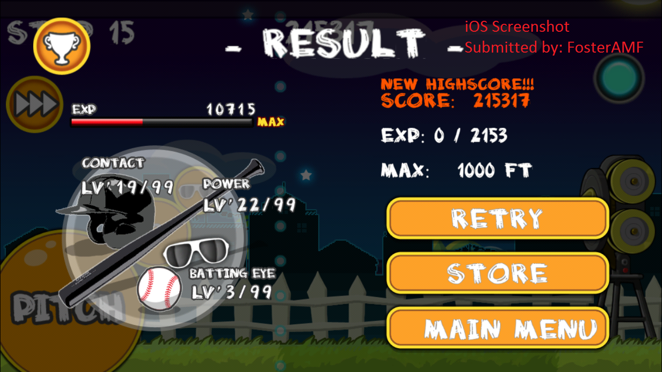 """FosterAMF: Flick Home Run: Minor Challenge [No """"Stage-Up"""" Bonuses Allowed] (iOS) 215,317 points on 2015-10-28 01:04:52"""